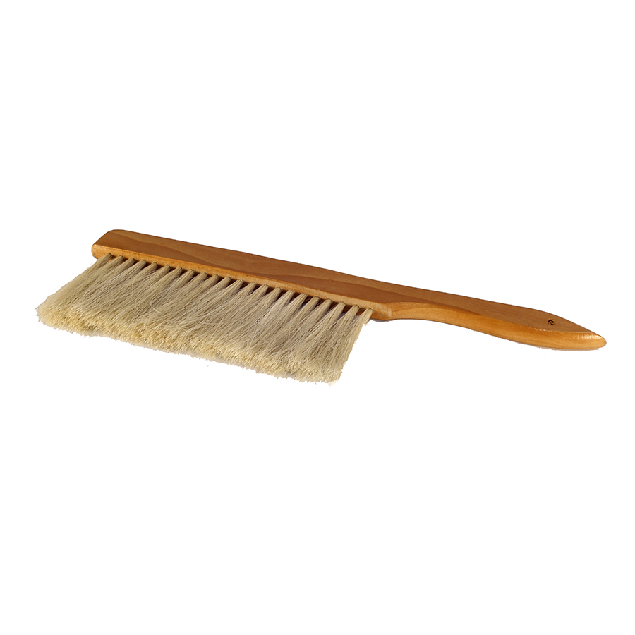 A natural horse hair bristled bee brush with a wooden - Natural horse hair interior upholstery brush ...