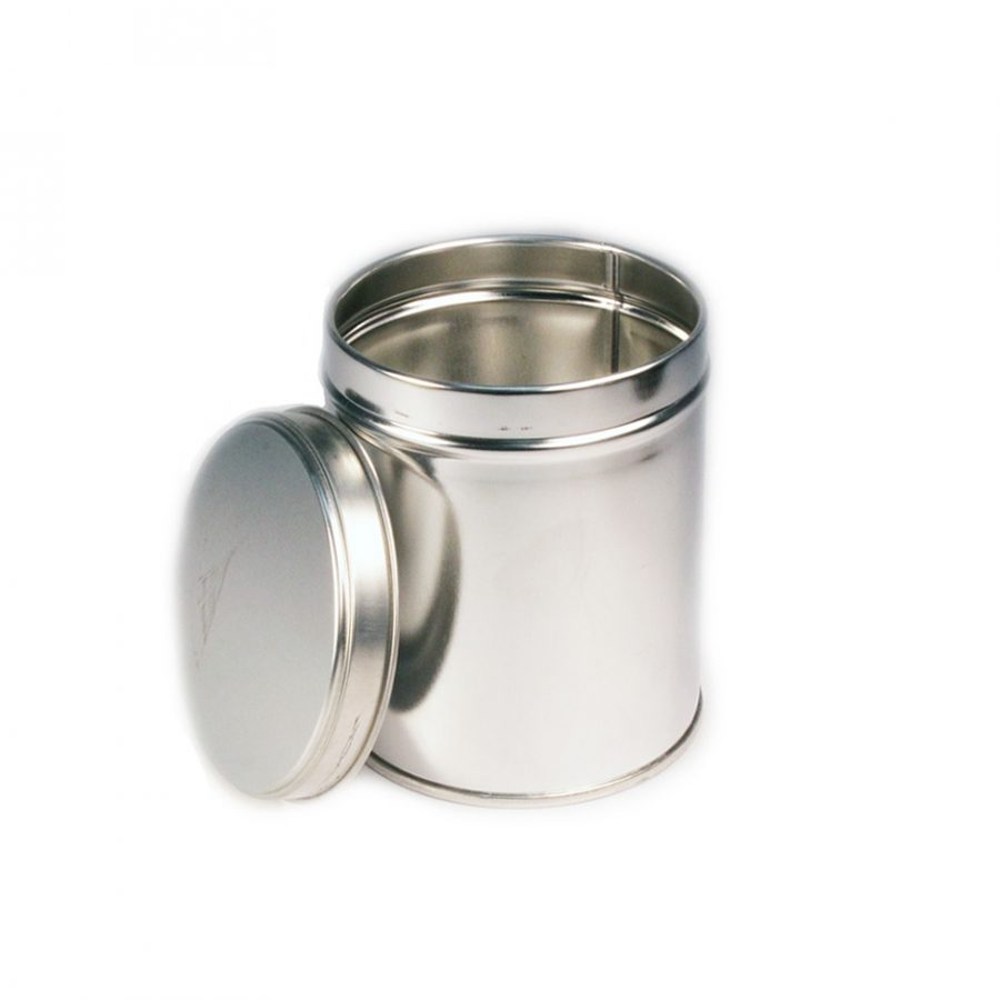 Wells Can Canister Specialty 1/2Kg Slip Cover Tin