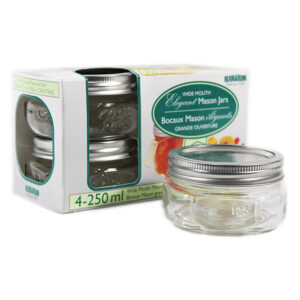 Bernardin 250ml WM Elite Mason Jars (4pk)