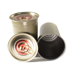 16oz (1lb) Tall Tapered Salmon Cans & Maple Leaf EZO Lids