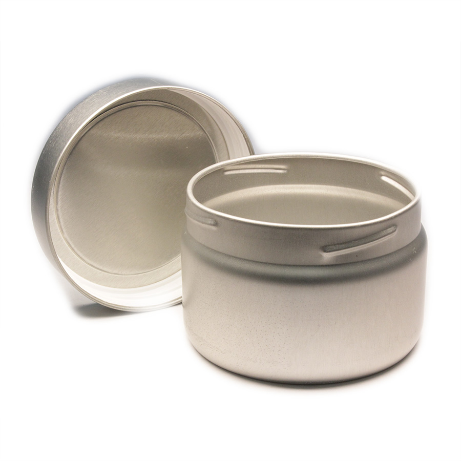 8oz Deep Screw Top Seamless Tin