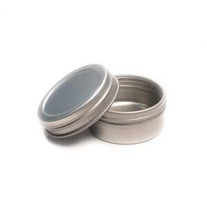 Half Ounce Flat Screw Top Seamless Tin