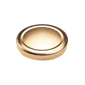 Gold Glass Jar Closure Lid 63TW