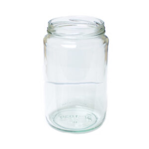 750ml Round Clear Plain Glass Jar 82TW