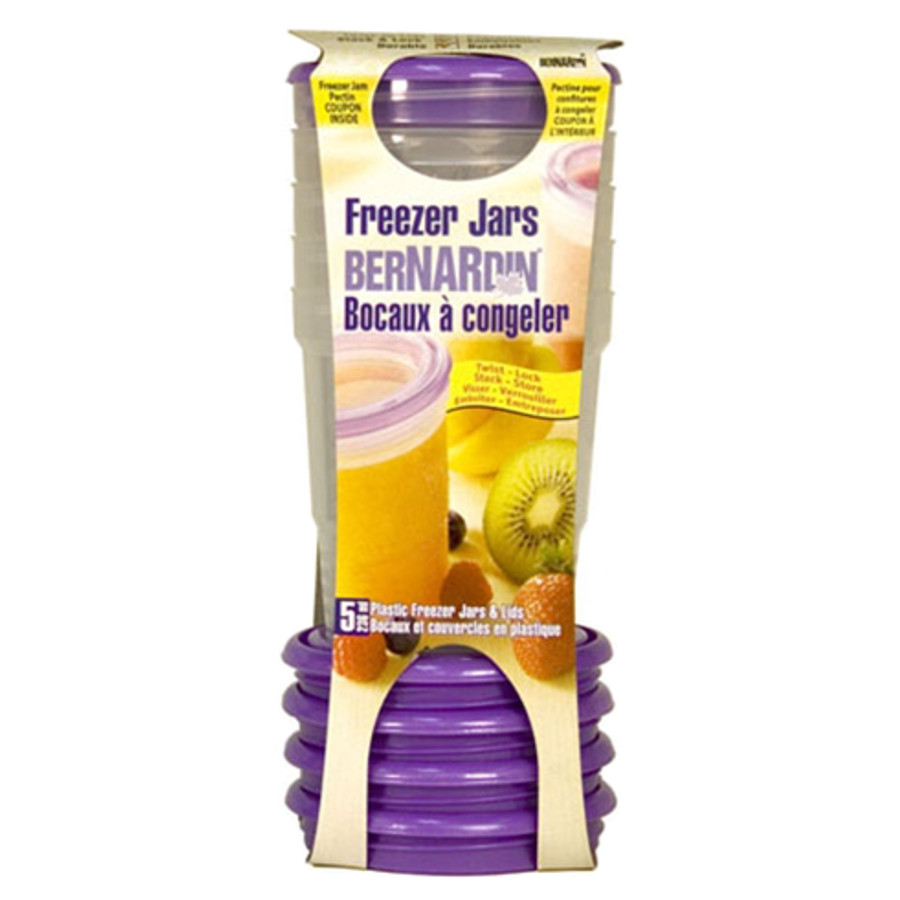 Bernardin 236 ml Plastic Freezer Jars (5pk)