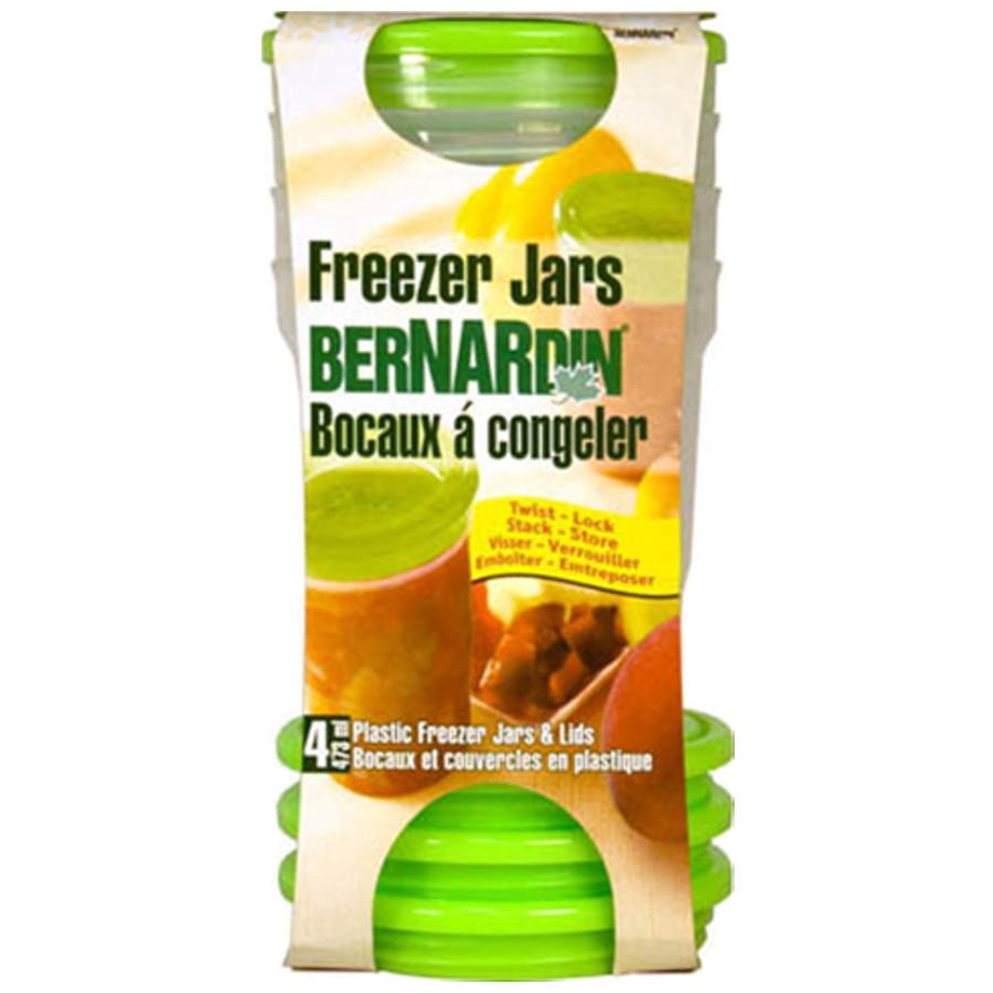 Bernardin 473 ml Plastic Freezer Jars (4pk)