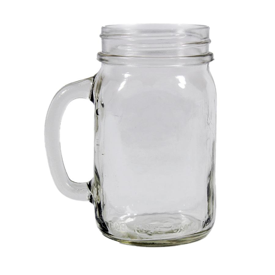 Bernardin 16oz Regular Mouth Glass Drinking Jar Mug