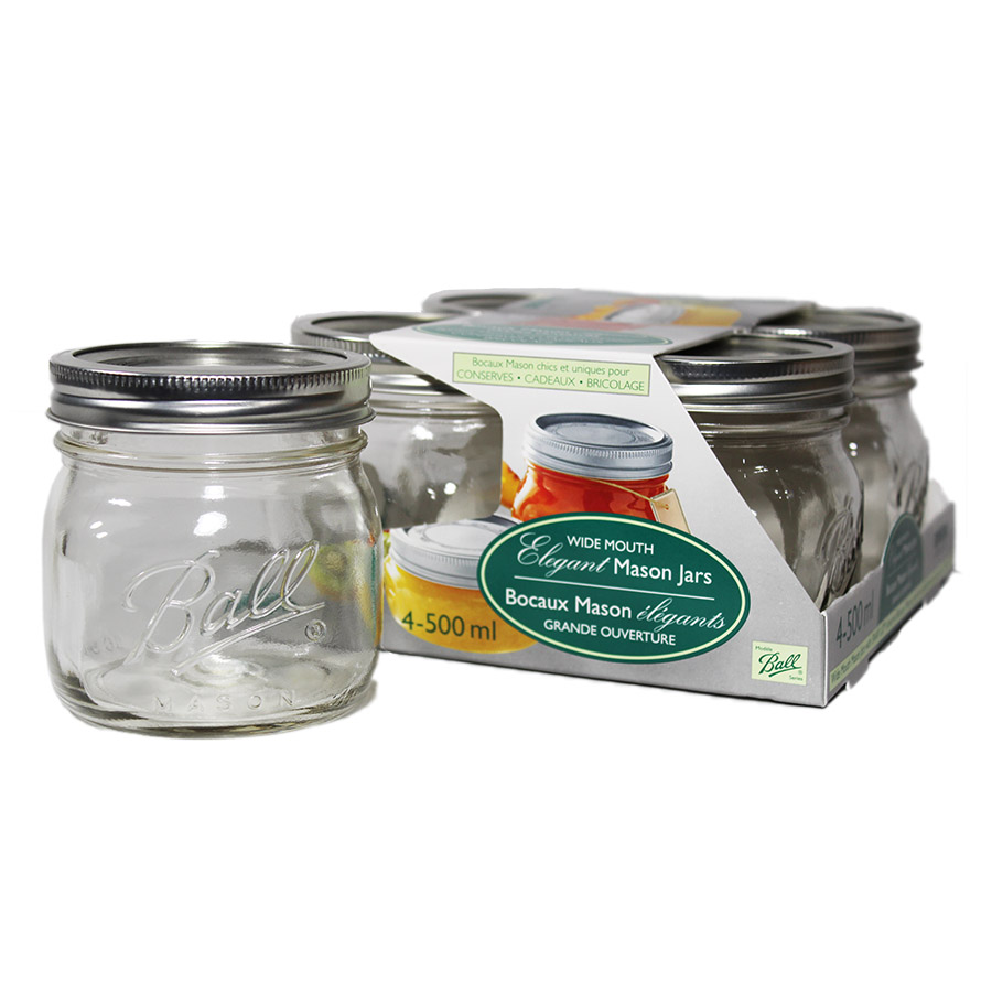 Bernardin 500ml WM Elite Mason Jars (4)