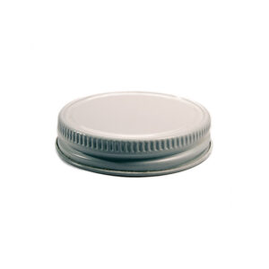 Glass Bottle 48CT White Metal Screw Top Lid