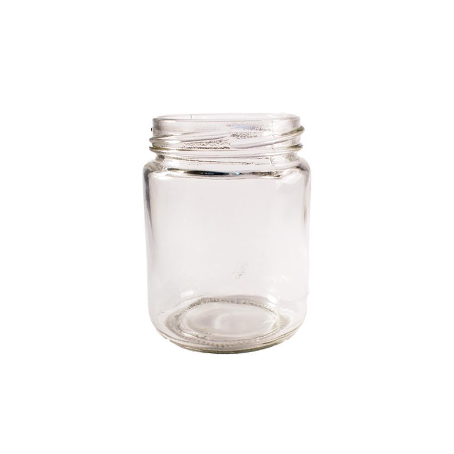 Glass 8oz Round Jam Jar