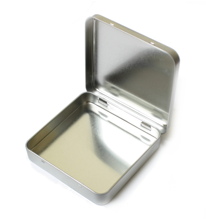 Large Square Hinged Tin
