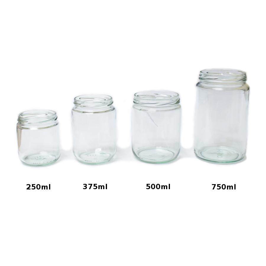 Glass Jar Size Comparisons