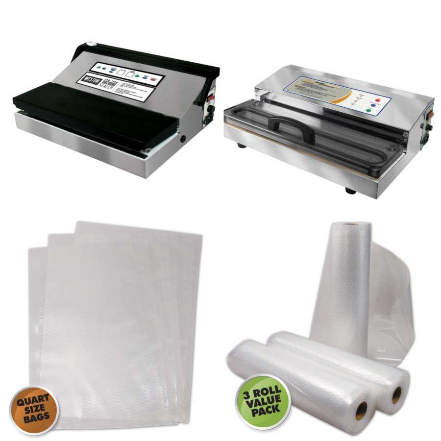External Suction Vacuum Bags & Rolls