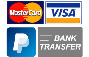 Accepted methods of payment
