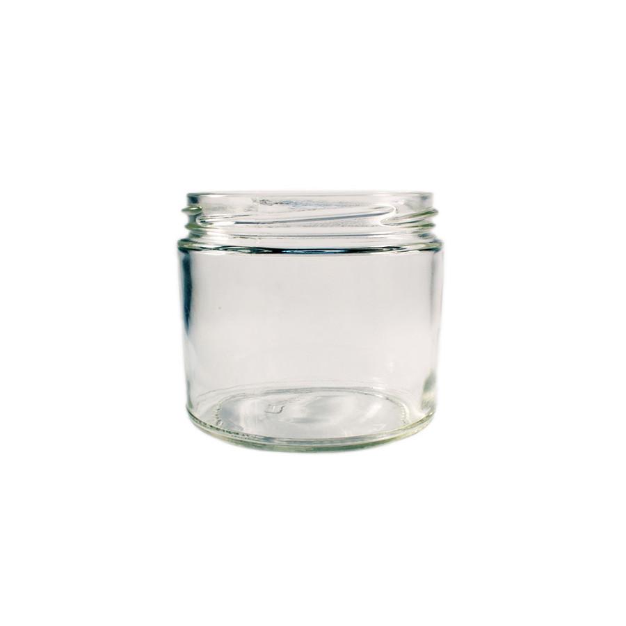 230ml (7.75oz) Round Clear Jelly Jar 70TW - 12pk