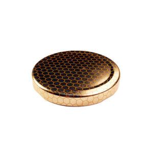 63TW Gold Comb Metal Jar Lid