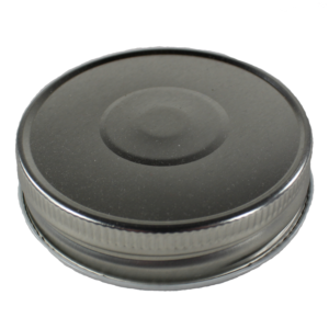 One Piece Silver Metal Regular Mouth Mason Jar Lid 70CT - Top View