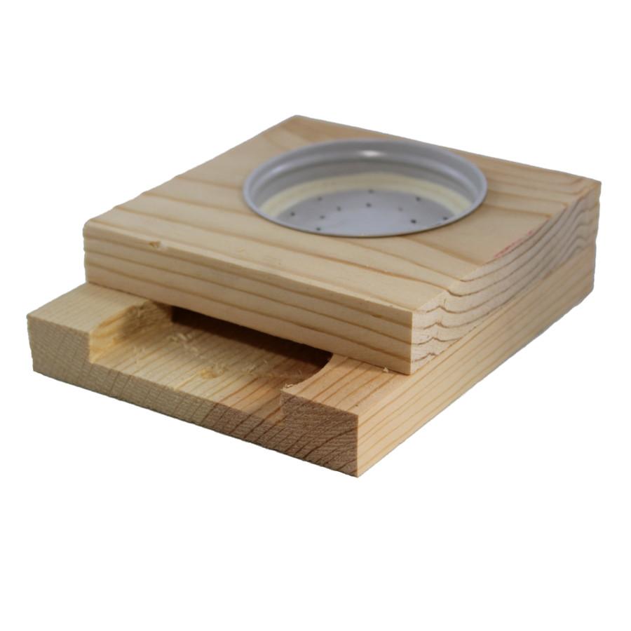 1L Mason Jar Wooden Boardman Bee Feeder