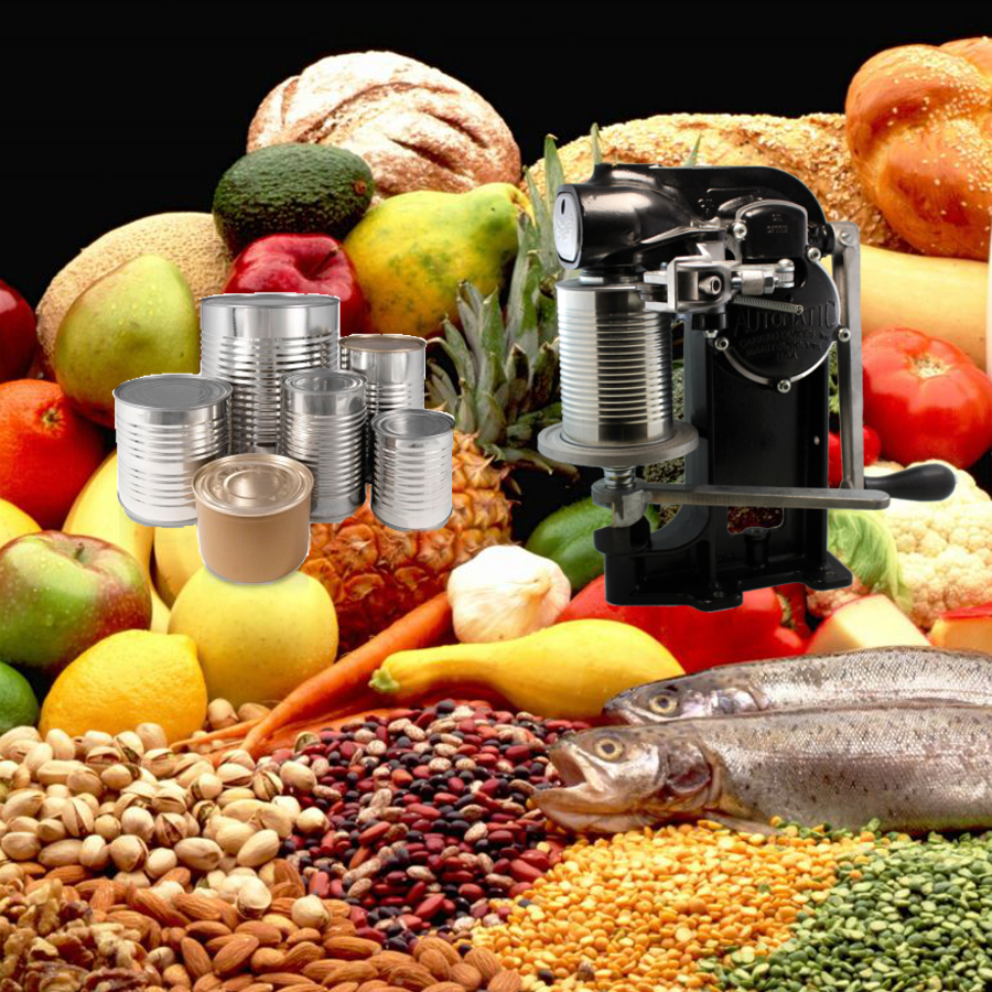 Metal Food Cans & Can Sealers