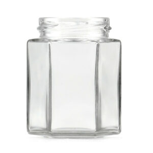 12oz Hex Honey Jar - 63TW