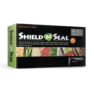 Shield N Seal 11″ x 24″ All Black Vacuum Sealer Bags – 50 count
