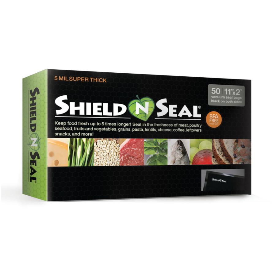 Shield N Seal 11″ x 24″ All Black Vacuum Sealer Bags – 50 count