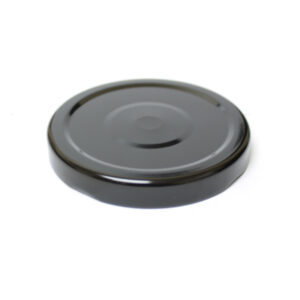 70TW Black Metal Jar Lid with Safety Button