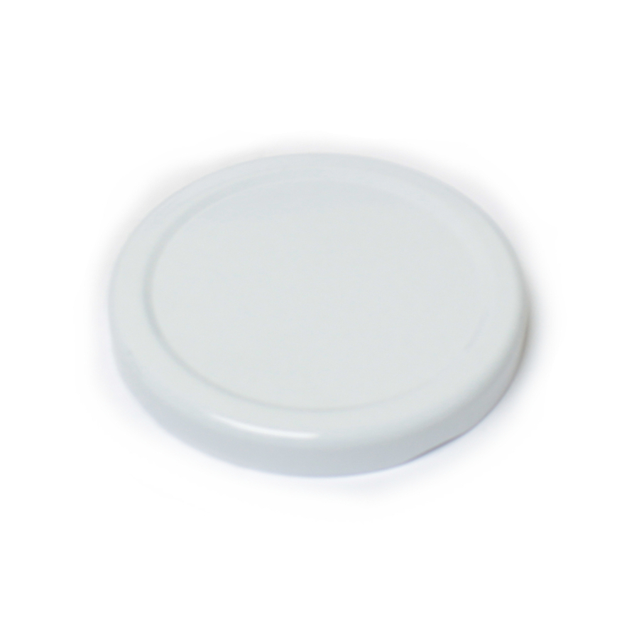 70TW White Metal Jar Lid