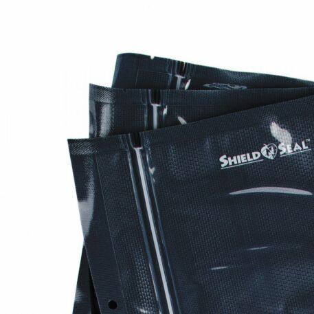Shield N Seal 5″x8″ Black-Clear Pre-Cut 5mil Vac Bag w/zipper