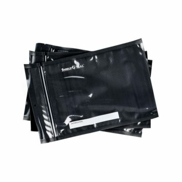 Shield N Seal 5″x8″ Black-Clear Pre-Cut 5mil Vac Bag w/zipper