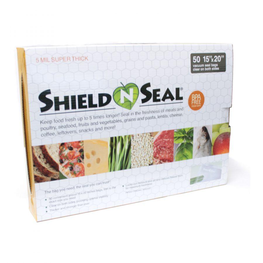 """Shield N Seal SNS2200 15""""x20"""" Precut Clear/Clear 5mil Vac Bags 50pk"""