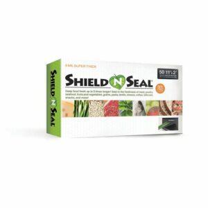 "Shield N Seal SNS300 11""x24"" Precut Clear/Black 5mil Vac Bags 50pk"