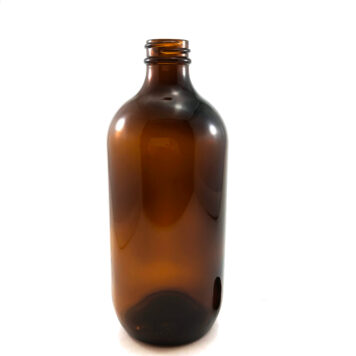 500ml Boston Amber Metric Round 28-400