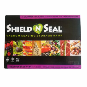 "Shield N Seal 5""x8"" Metallic-Clear Pre-Cut 4mil Vac Bag w/zipper"