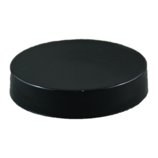 53-400 CT Black PP Smooth Skirt Lid with Foam Liner