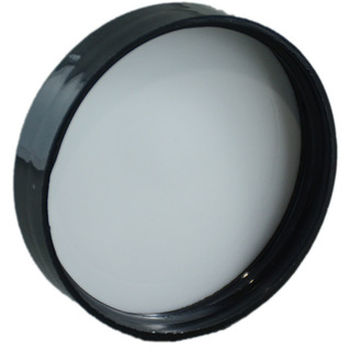53-400 CT Black PP Smooth Skirt Lid with Foam Liner3