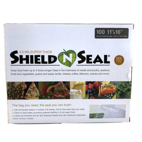 Shield N Seal 11″x16″ Clear-Clear Pre-Cut 3.5mil Vac Bag