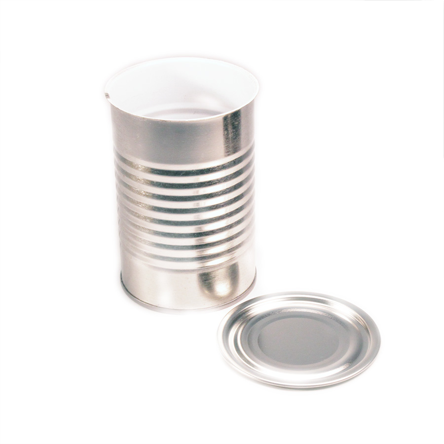 10oz 211x400 3pc Metal Can and regular plain Lid
