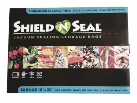 "Shield N Seal 15""x20"" Black/Clear w/zipper 50 bags"