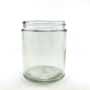 wellscan-6oz-clear-glass-straight side-jar-63-400-CT-continuous thread
