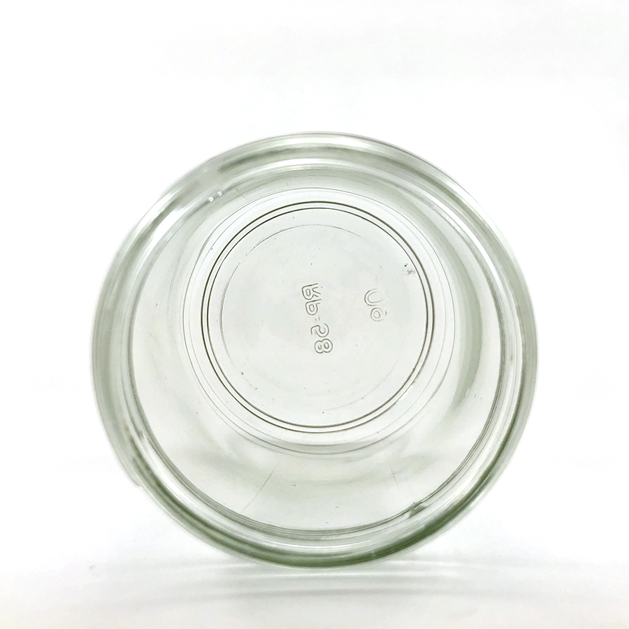 wellscan-6oz-clear-glass-straight side-jar-63-400-CT-continuous thread-inside