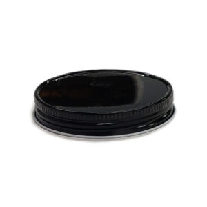 63-400 CT Black Metal Lid with standard Plastisol Liner