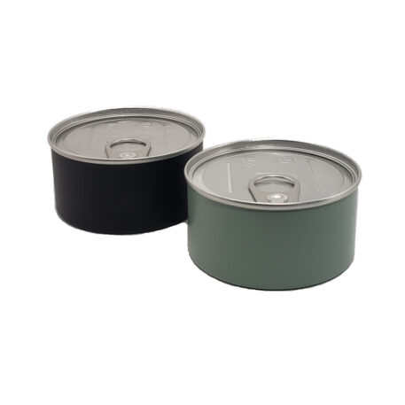 """4oz 300x108 Dry Herb Can with Aluminum Safe EZO """"pull tab"""" end"""