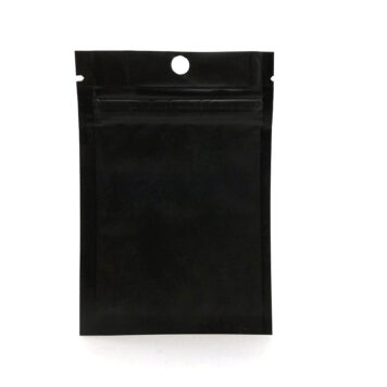 wellscan-3in x 4.5in-flat-zipper-bag-black-matte-4mil