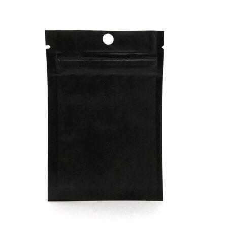 wellscan-3in x 4.5in-flat-zipper-bag-black-matte-4mil